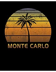 Monte Carlo: Notebook Lined Wide Ruled Paper For Taking Notes. Stylish Journal Diary 7.5 x 9.25 Inch Soft Cover. For Home, Work Or School.