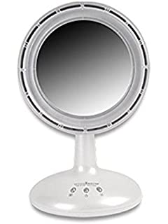 Amazon.com: IMirror - Makeup Mirror with LED Light and Fan (Pink ...