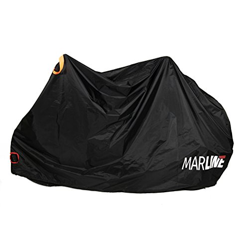 MarLine Bike Cover Outdoor Waterproof Bicycle Cover Dust Snow Proof with Lock Hole and Reflective Straps by Marline