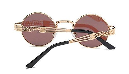 Glacier style Lennon de du métallique cercle rond retro inspirées en soleil polarisées lunettes vintage Bleu wKgZ6Uaqpx