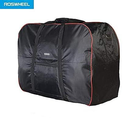 Bolso de bicicleta de almacén unisex, acolchado, plegable, bolsa de hombro de transporte para bicicleta plegable, como brompton, negro, 77 cm de ancho, ...