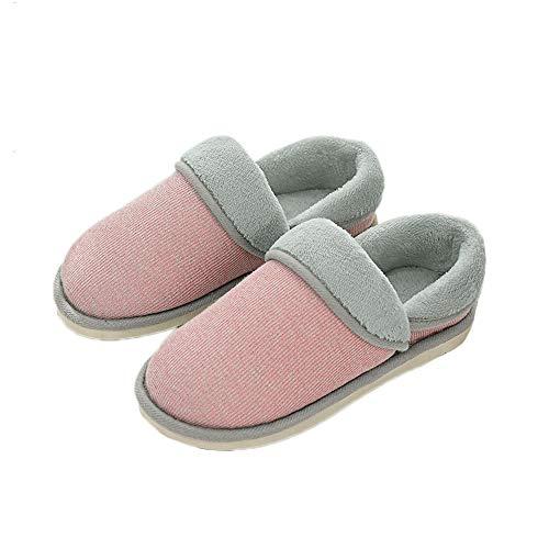 Indoor Fleece Unisex Solid JadeRich Pink Slippers Cloth Warm 7XUdxw