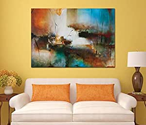 Abstract Wooden Tableau, 100X100 cm - 1 Piece