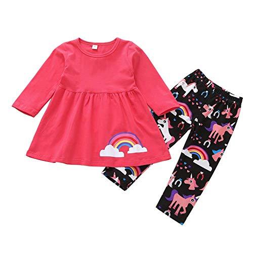(DXTON Little Toddler Girl Long Sleeve Cute Black Pant Set Winter Sets GZSH007-2T)