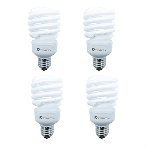 23w Compact Fluorescent Lamp - Compact Fluorescent Light Bulb T2 Spiral CFL, 2700k Soft White, 23W (100 Watt Equivalent), 1600 Lumens, E26 Medium Base, 120V, UL Listed (Pack of 4)