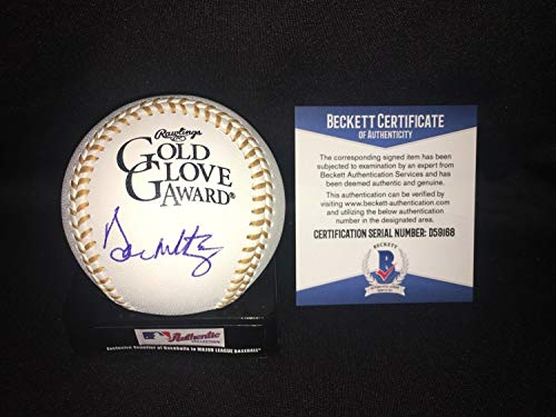 (Don Mattingly Autographed Signed Official Gold Glove Baseball New York Yankees Beckett - Authentic Memorabilia )