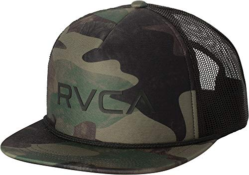 los angeles f01d3 7631b RVCA Foamy Deep Fit Snapback Trucker Hat Dark Camo