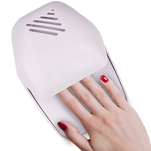 Portable Nail Drying Fan for Manicure or Pedicure Battery-Operated (White) by bogo Brands