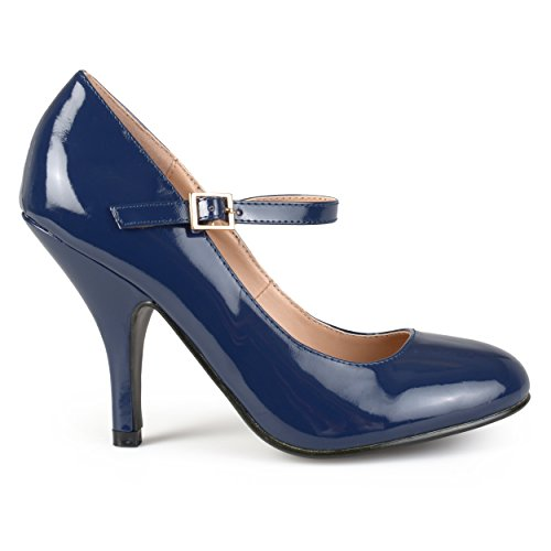 Brinley Co Womens Nelson 02 Dress Pump Regular & Wide Sizes Navy Patent Pu G88REkCR
