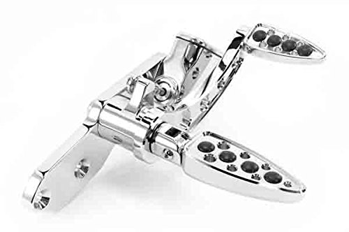 Battistinis Custom Cycles Billet Forward Control - Teardrop - Stock Length - Chrome 07-522 -