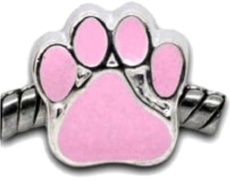 Perros Rosa de huellas - Mujer Bead - para pandora joyas ...