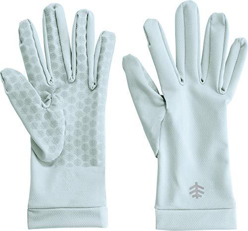 Coolibar UPF 50+ Unisex Sun Gloves - Sun Protective (X-Large- Light Blue) - Mens Gripper Gloves