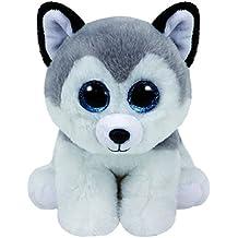 TY Beanie Boo's BUFF Husky Dog Grey White 2016 Summer NEW RELEASE