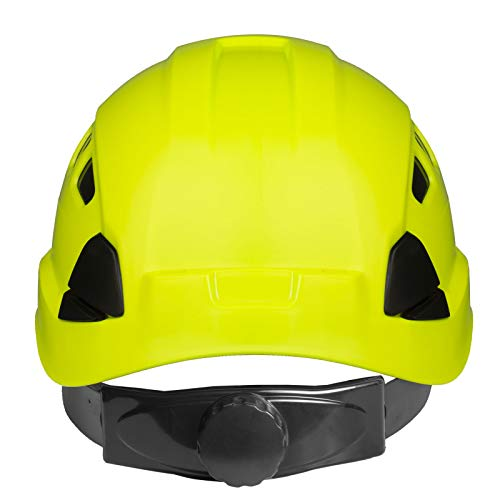 PPE By JORESTECH - ABS Work-At-Height and Rescue Hard Hat Slotted Ventilated Helmet w/Adjustable Ratchet 6-Point Suspension ANSI Z89.1-14 (Lime) by JORESTECH  (Image #3)