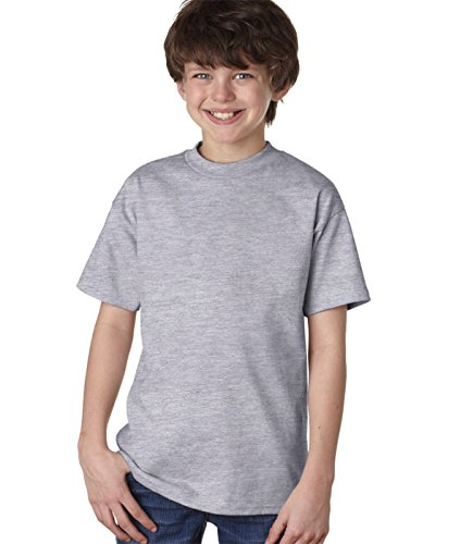 Hanes Youth 6.1 oz. Tagless T-Shirt, Medium, LIGHT (6.1 Ounce T-shirt)