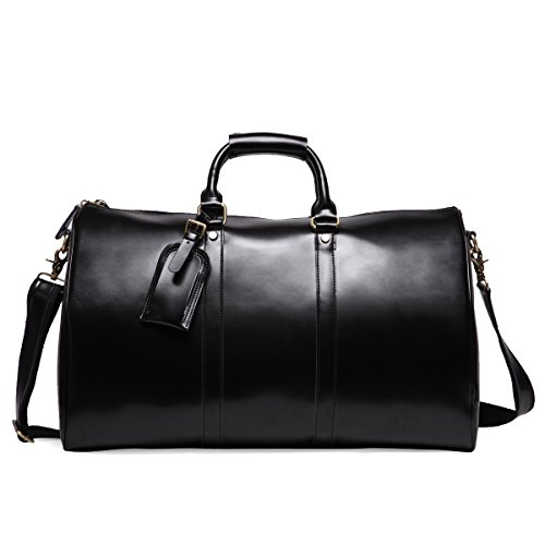 ne Leather Overnight Travel Duffle Overnight Weekender Bag Luggage Carry On Airplane ()