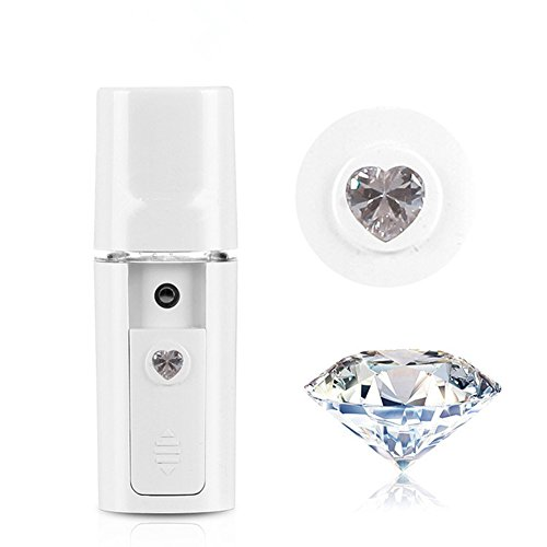 PJY Nano Facial Steamer Mist Spray Eyelash Extensions Cleaning Pores Water SPA Moisturizing & Hydrating Face Sprayer USB Rechargeable Mini Beauty Device - White