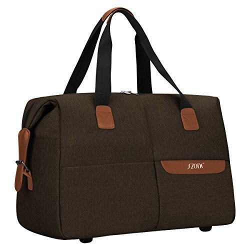 S-ZONE Fashion Travel Tote Luggage Carry on Weekender Duffle Bag
