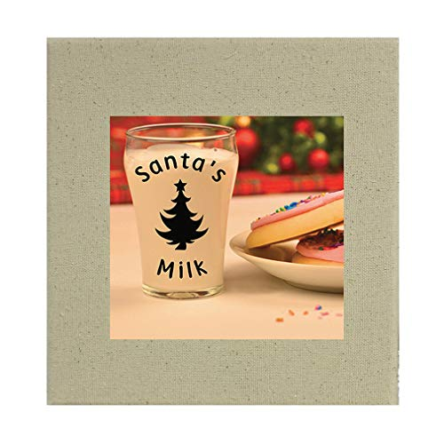 Style In Print Santas Glass Full of Milk and Cookies #2 Cotton Canvas Stretched Natural Canvas Printed Canvas - 8