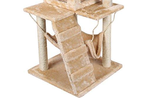 Tms 52 inch deluxe cat tree tower condo hammock scratcher post furniture kitten pet house - Cat hammock scratcher ...