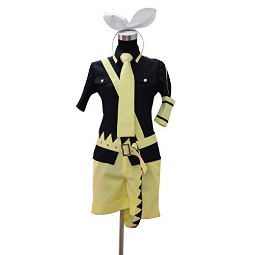 Lvcos Japanes Anime Cosplay Costumes-Kagamine Rin- Love Is (Black Poison Ivy Costume)