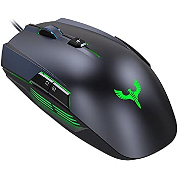 Blade Hawks GM-X5 Gaming Mouse Up to 4000DPI 8 Buttons Programmable Breathing Colorful LED Braided Wire - Gaming New Force