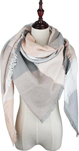VIVIAN & VINCENT Soft Classic Luxurious Blanket Tartan Square Scarf Wrap C24 Tartan Scarf
