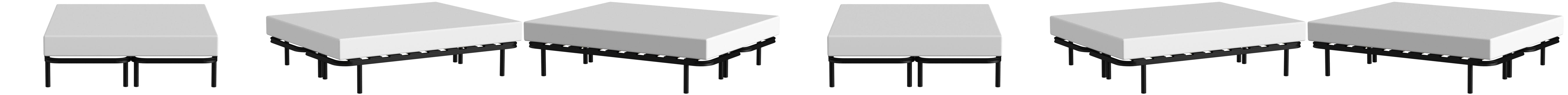 LA WEB DEL COLCHON Somier Multiláminas Regulador (*) 150 x 190 (2 ud. 75x190) x 5 cms. (8 Patas Incluidas)