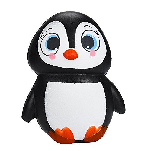 Cute Penguins - YUYOUG 14cm Squishy Kawaii Jouet Dessin Mignon Cute Lente Rising Charme Relief Boule Douce Anti Stress Assez Mou Pour Enfant Adulte Se DéTendre DéStresser Destress Stressant