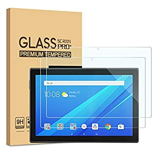 """[2-Pack] PULEN Screen Protector for Lenovo Tab M10 10.1""""(Not for Lenovo M10 Plus),HD Clear Easy Installation Anti-Fingerprints Bubble free 9H Hardness Tempered Glass"""