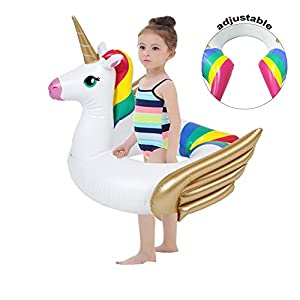 iGeeKid Pool Float for Kids Unicorn Flamingo Swim Floats for Toddlers Age 3-6 Years Inflatable Unicorn Floaties Swimming…