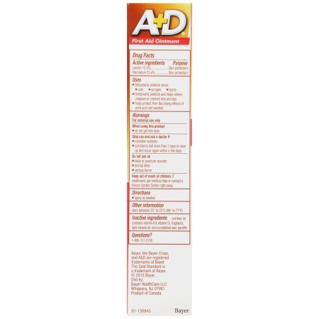 A+D First Aid Ointment Skin Protectant With Vitamin A&D 1.50 oz(Pack of 2)
