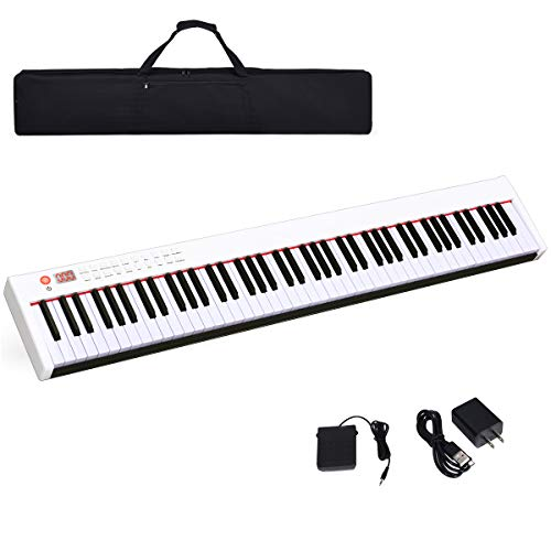 Cheapest Price! Costzon BX-II 88-Key Portable Touch Sensitive Digital Piano, Upgraded Electric Keybo...