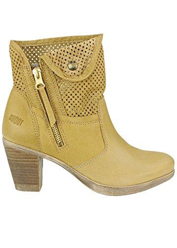 Shoot shoes botines de corto para mujer de verano SH-15040 botas de tendencia Beige (Spago (hellbraun))