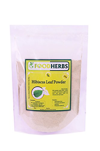 FoodHerbs Hibiscus leaf Powder (200 gms/0.44 lbs) pure for premature graying, hair fall, natural hair conditioner