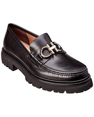 - Salvatore Ferragamo Gancini Leather Loafer, 8.5 Eee Black