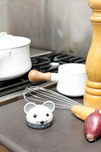 Kikkerland Kitchen Timer Topolino Cucina 7x6x9 cm Grigio
