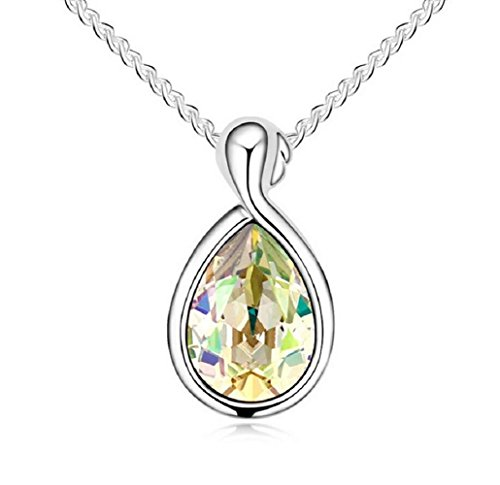 Yuriao Jewelry Elegant Fashion 18k Constellation Virgo Crystal Pendant Necklace£¨green£