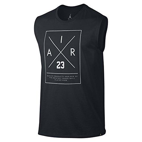 Nike Mens Jordan Sleeveless Dri-Fit T-Shirt Black/White 843128-010 Size X-Large