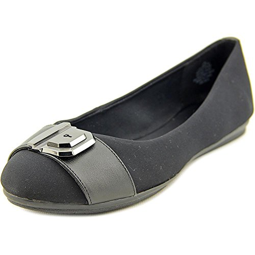 1861c94191e5 best Easy Spirit e360 Gianetta Women Round Toe Canvas Black Flats ...