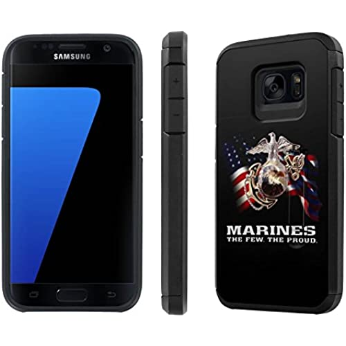Galaxy [S7] [5.1 Screen] Defender Hybrid Case [SlickCandy] [Black/Black] Dual Layer Protection [Kick Stand] [Shock Proof] Phone Case - [Marines The Few The Sales