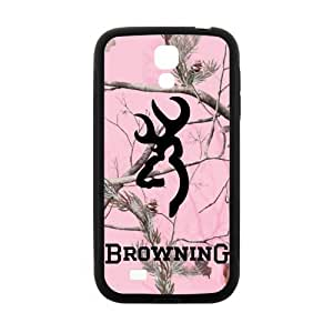 Pink Camo Camouflage Browning Cutter Logo Case for SamSung Galaxy S4 I9500 (Laser Technology) by mcsharks