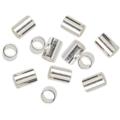 Cousin 2950225 Plated Silver Elegance 45-Piece Silver Plate 2 by 3mm Crimp ()