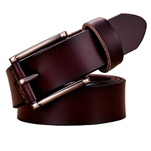 69 Belt Lock - Beautface Makeup Fashion women Pin buckle woman belt for jeans Cowskin strap,100cm,Coffee