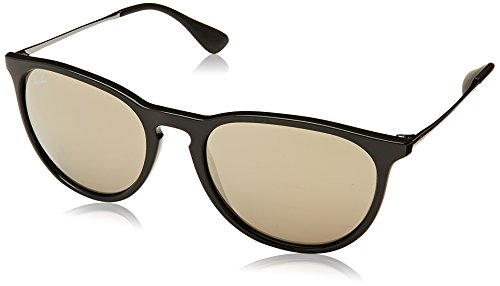 Ray-Ban Erika - Black Gunmetal Frame Gold Mirror Lenses - Glasses Face Round Ray Ban