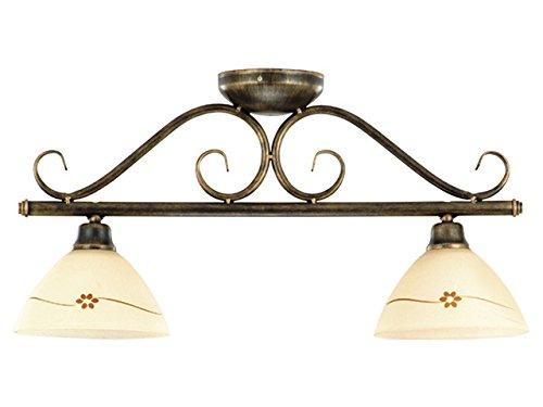 Plafoniere Rustiche Soffitto : Lampada da soffitto rustica xe sala pranzo soggiorno