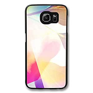 Galaxy S6 Case, S6 Cases, Customize Pink Love Bg Shock Absorption Bumper Case Protect S6 Hard PC Black Case Cover for Samsung Galaxy S6