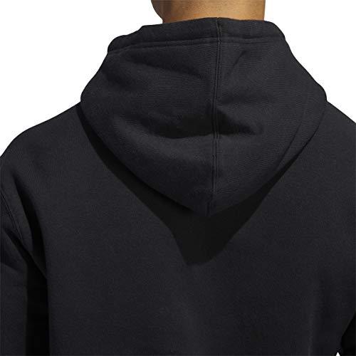 adidas Men's Essentials 3-stripes Pullover Fleece Hooded Sweatshirt