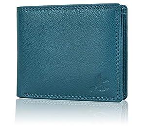 Hornbull Men's Stella Aqua Blue Leather RFID Blocking Wallet