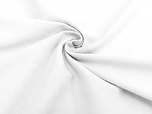American Baby Company 2 Piece 100% Cotton Value Jersey Knit Fitted Crib Sheet, White by American Baby Company (Image #3)